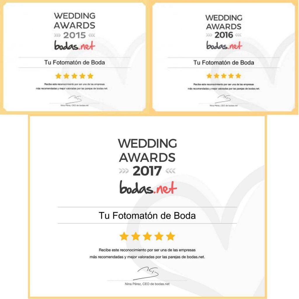 Galardonados con los Wedding Awards por tercer año consecutivo