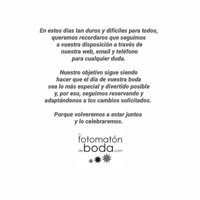 Aquí seguimos 📸🏘 Mucho ánimo para todos y todas. #quedateencasa #stayhome #tufotomatondeboda